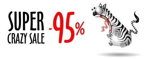SUPER CRAZY SALE! Wybierz swoją sukienkę z  95% rabatem!
