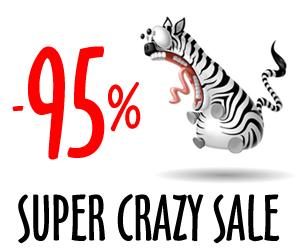 Bluzka albo sukienka z 95% RABATEM? - TAK - w promocji SUPER CRAZY SALE - Sprawdź koniecznie!