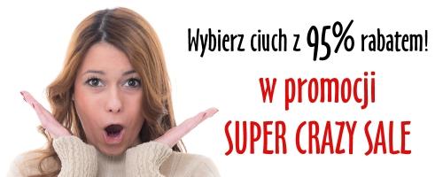 Wybierz swój ciuch z 95% RABATEM (!) w  promocji SUPER CRAZY SALE